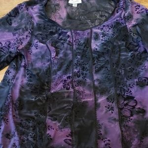 Beautiful deep purple/black blouse